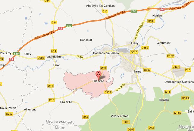 54800 Friauville - Google Maps
